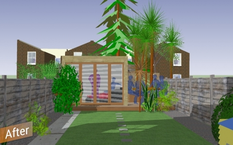home office design rendering