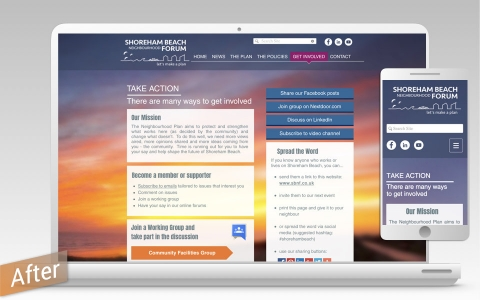 responsive, mobile first design