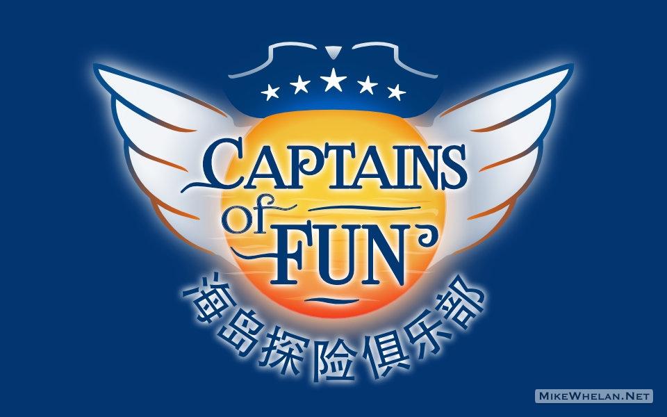 logo design on navy background