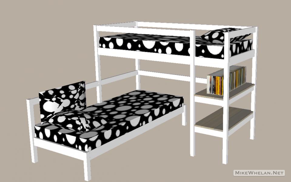 corner bunk bed mode
