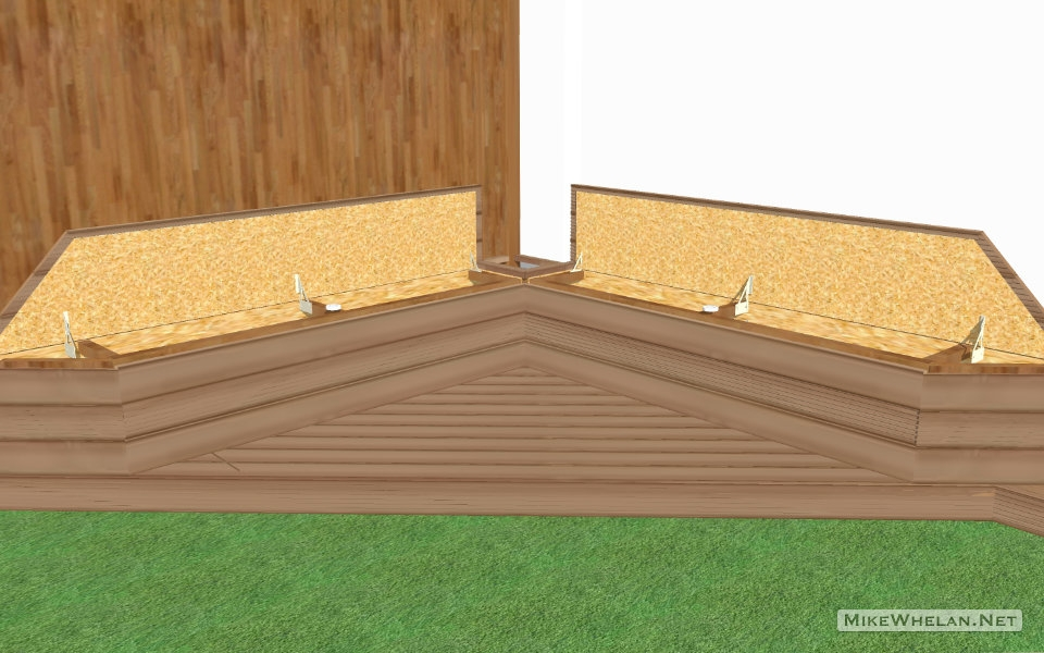 garden bench storage - open