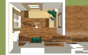 space-saving sofa and storage solution