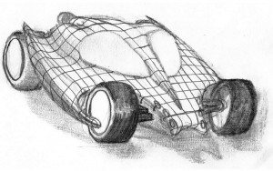 Batmobile concept sketch 1992