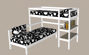 corner bunk bed mode