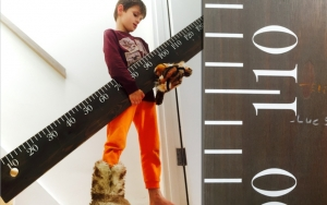 Giant height ruler design by Mike Whelan