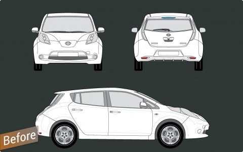 vehicle template before wrap