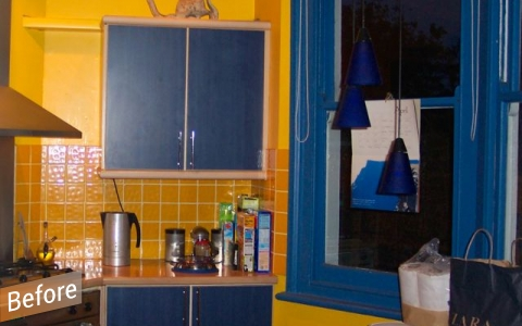 old kitchen before conversion
