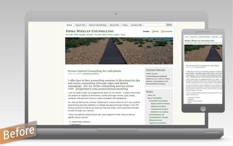 old Wordpress website before re-design