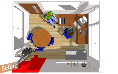 old office layout
