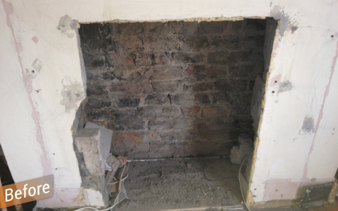 old fireplace = unused space
